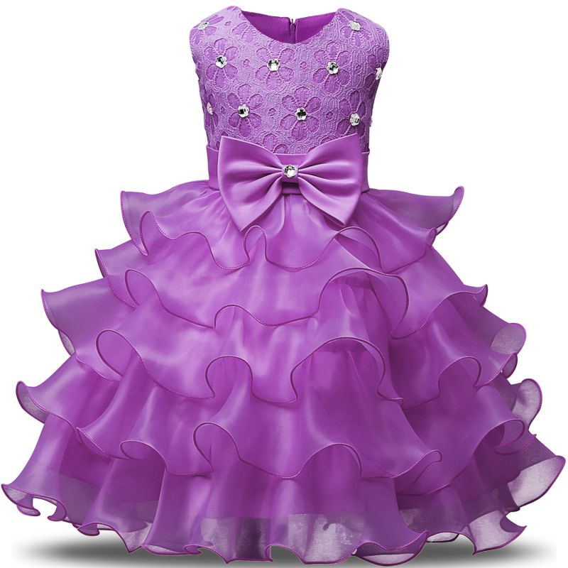 Lace Baby Dresses Girls Kids Evening Party Dresses For Birthday ...