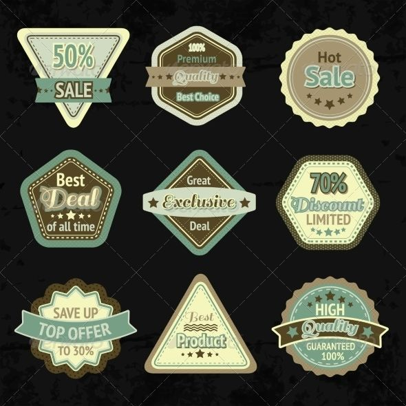 Sale labels and badges design set for best price high