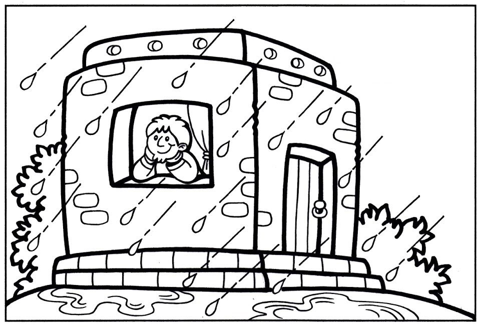 20++ Build your house on the rock coloring page HD