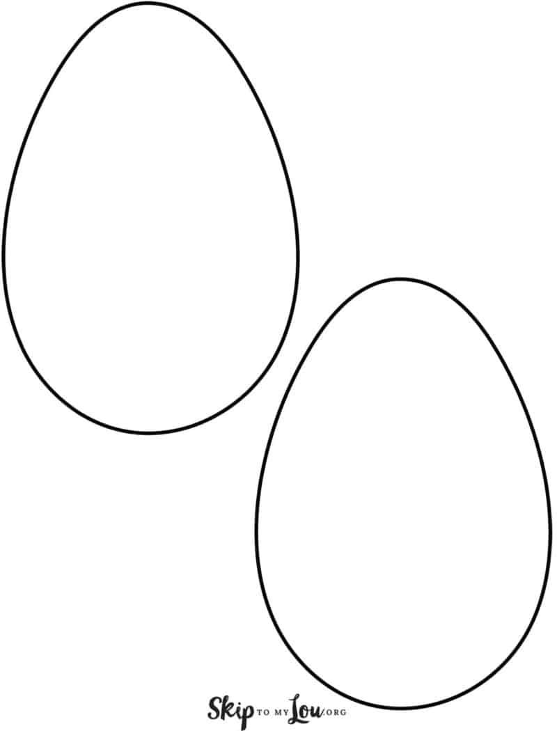 Easter Egg Templates For Fun Easter Crafts Egg Template Easter Egg Template Easter Templates