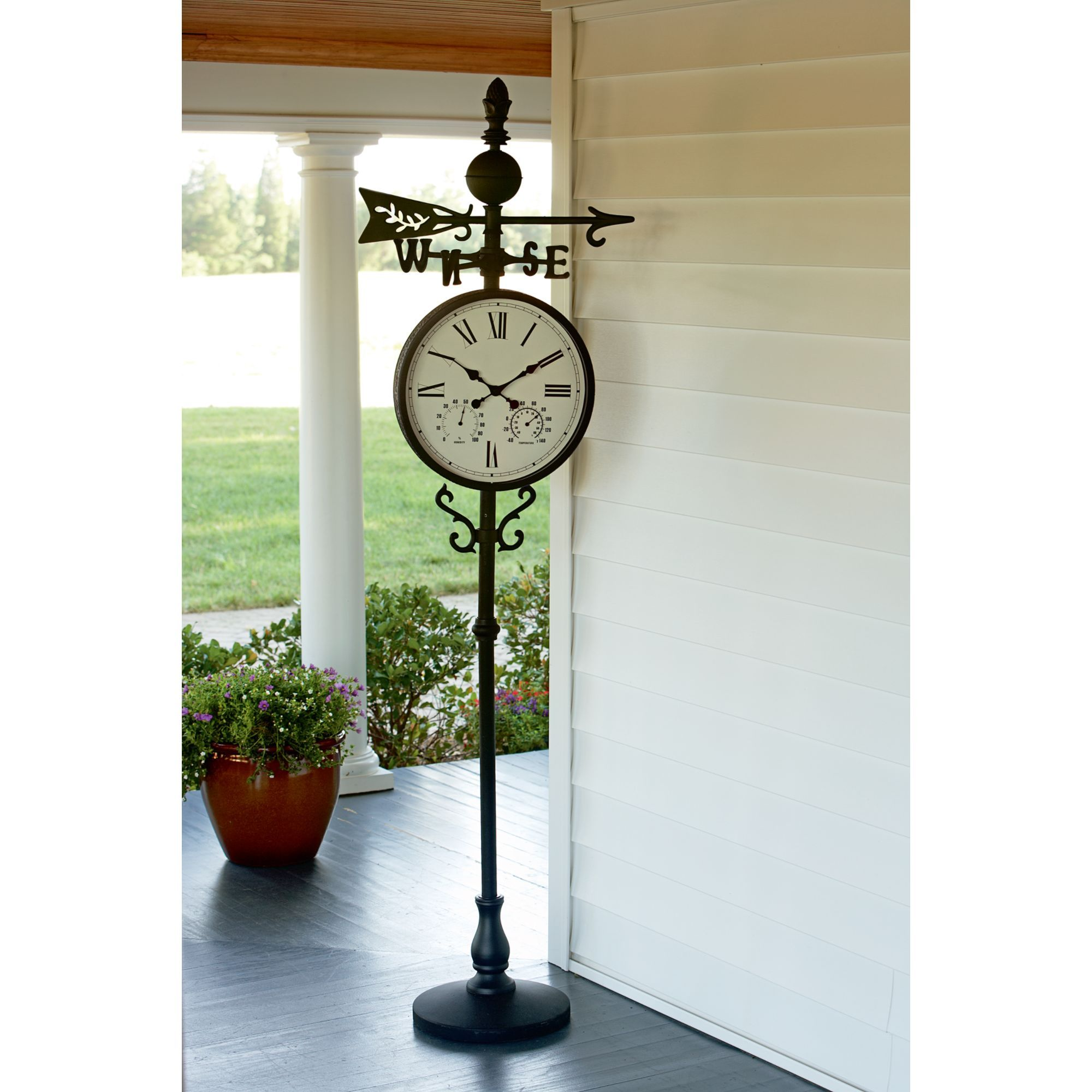 Image Result For Oversized Garden Clock On A Stand