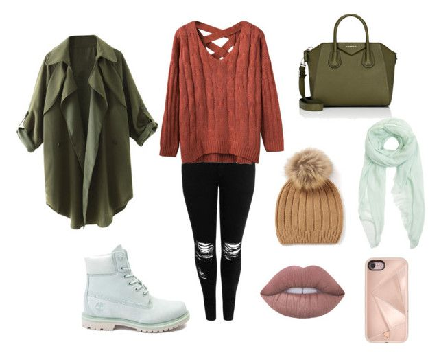 """""""Fall outfit"""" by andreadif on Polyvore featuring Boohoo, Timberland, Furla, Givenchy and Rebecca Minkoff"""