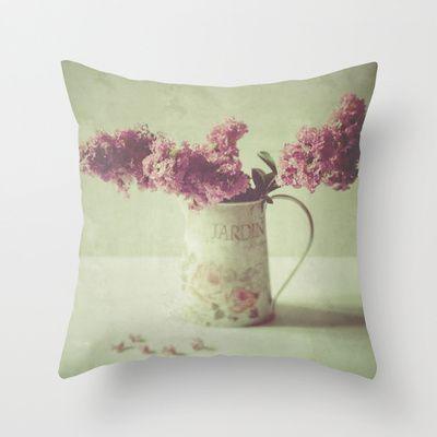 Jardin 1 Throw Pillow By Katayoon Photography Amp Designs Society6 13 Photography Stilllife Nature Flower Arrangeme Pillows Art Decor Throw Pillows