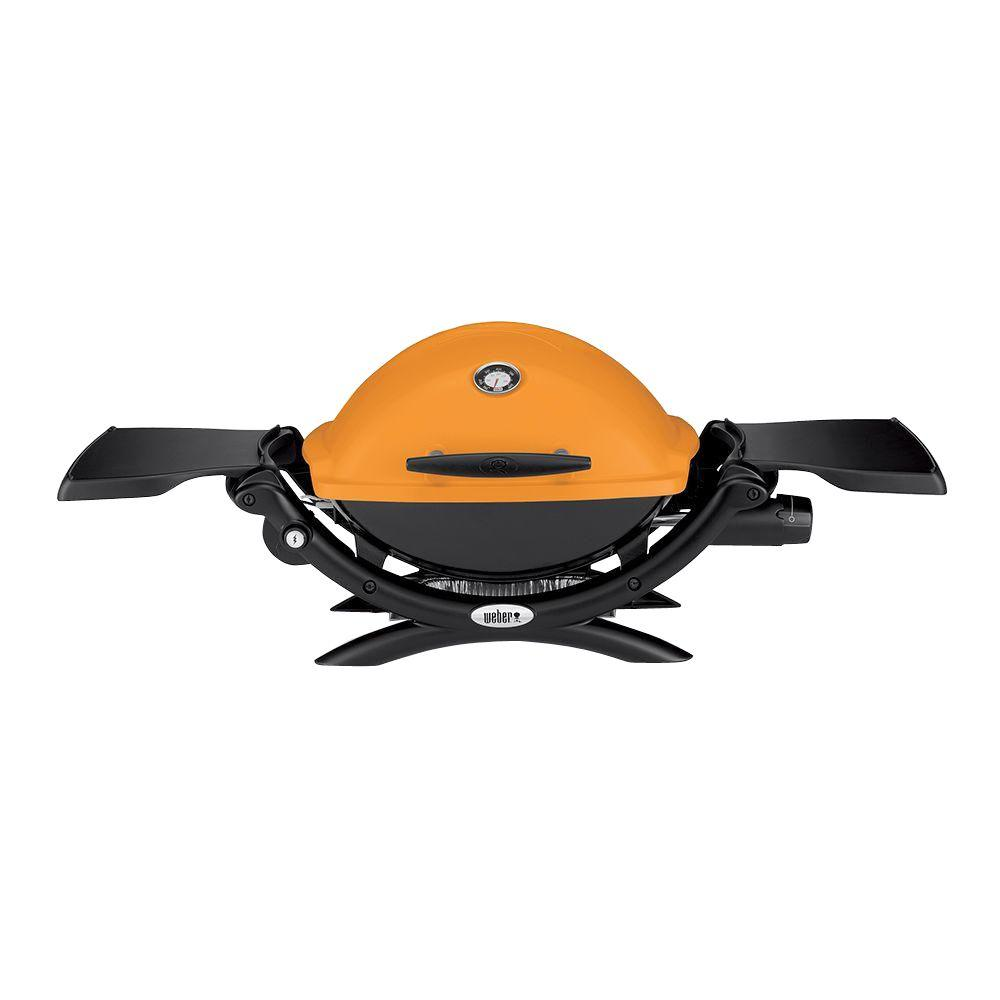 Weber Q 1200 1 Burner Portable Tabletop Propane Gas Grill In