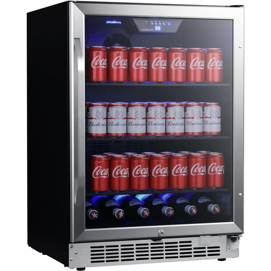 Edgestar 142 Can Capacity 5 49 Cu Ft Residential Stainless Steel Beverage Center Lowes Com In 2020 Built In Beverage Cooler Beverage Cooler Beverage Center