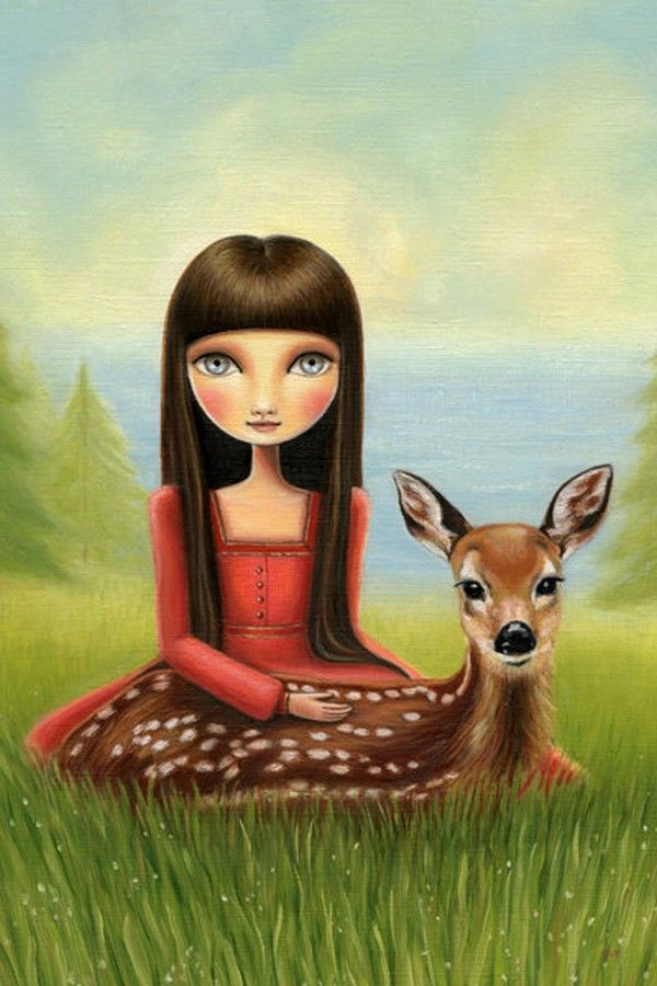 Adalaide and fawn