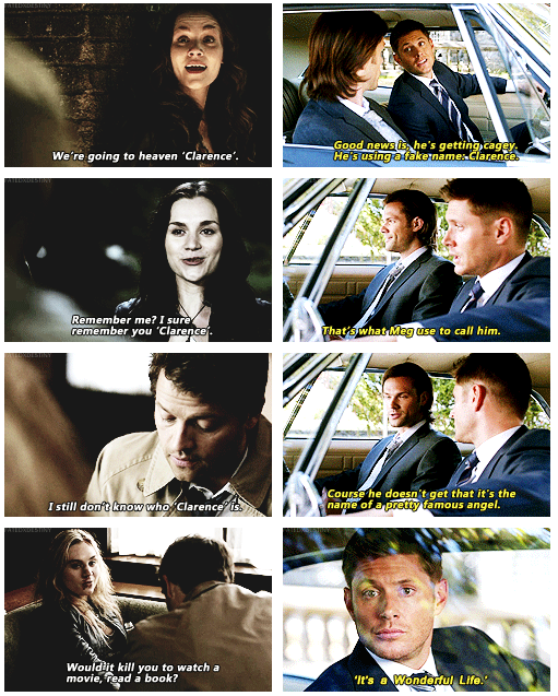 Clarence I miss Meg... Cas and Meg were awesome together ...