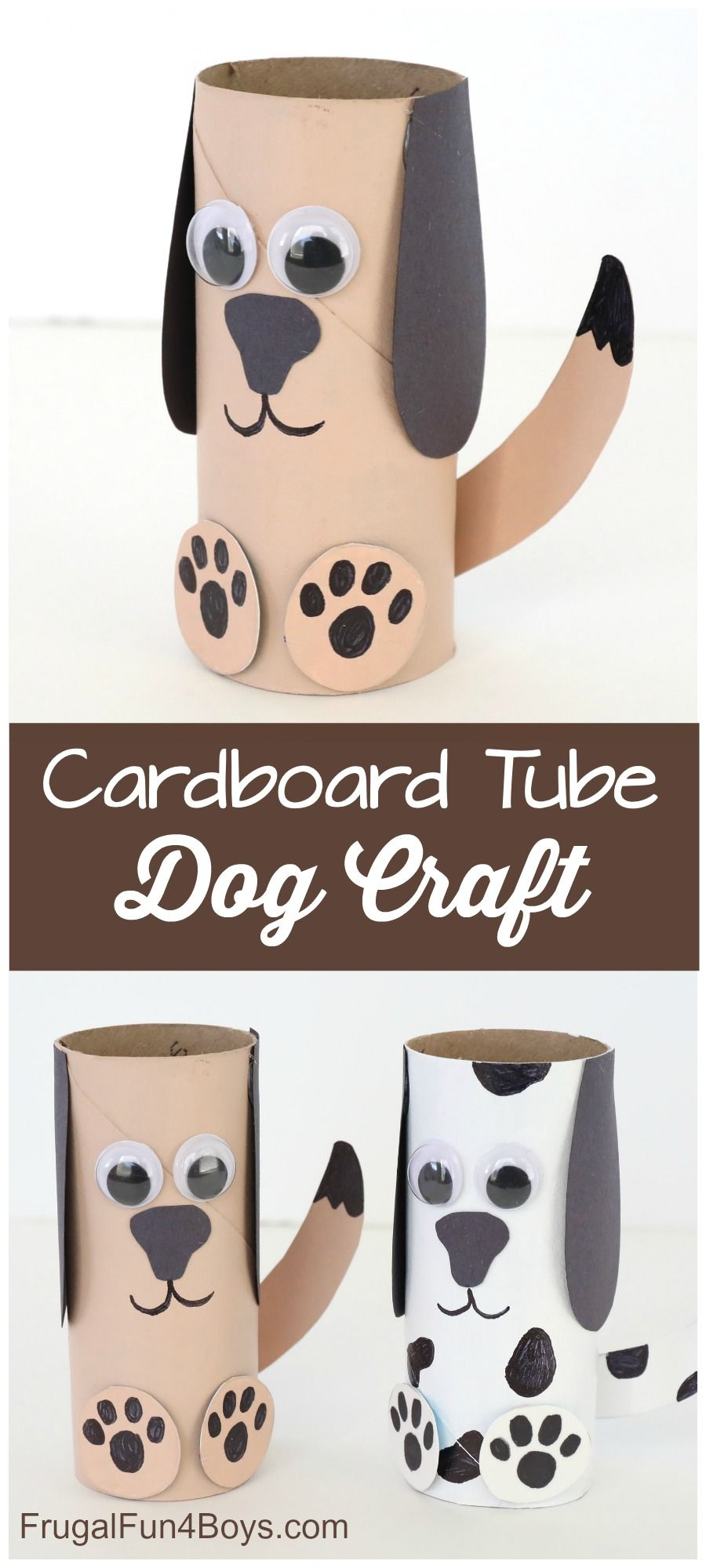 Paper Roll Dog Craft - Frugal Fun For Boys and Girls