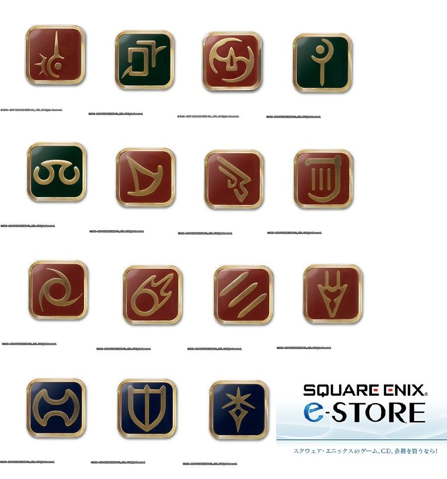 Final Fantasy XIV Job Pin Badge White Mage NEW from Japan F//S