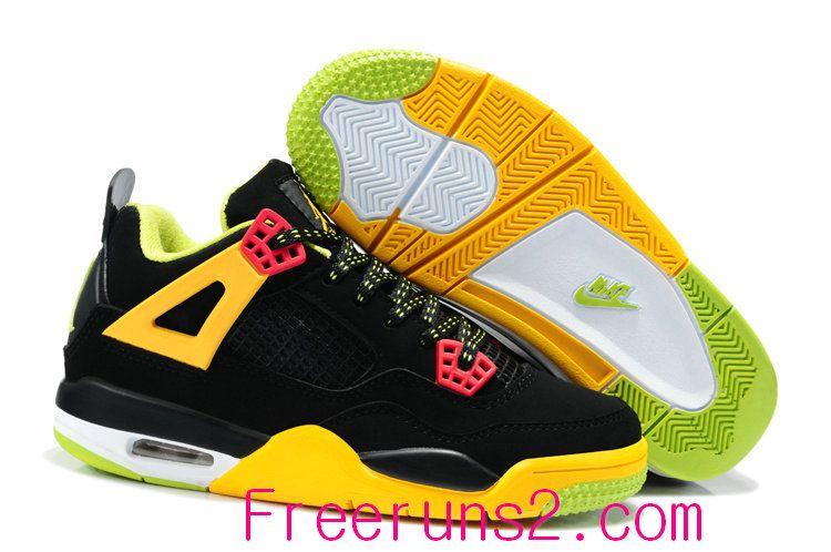 Find Discount Nike Air Jordan 4 Kids Black Yellow Green Shoes online or in  Footlocker. Shop Top Brands and the latest styles Discount Nike Air Jordan  4 Kids ...