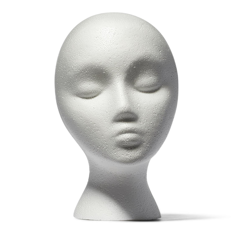Marianna Styrofoam Head With Face Styrofoam Heads Styrofoam Head Mannequin Heads Foam Head