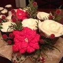 Festive Christmas cupcake bouquet