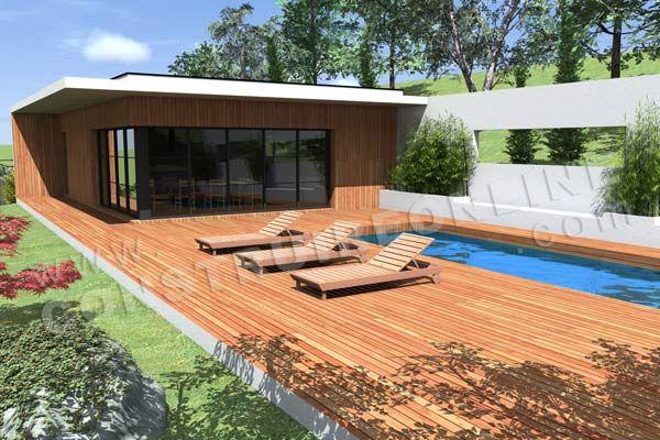 Plan de maison contemporaine - Plan de maison contemporaine à toits