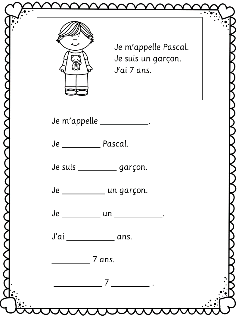 medium resolution of French - Back to school - c'est moi