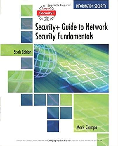 Comptia security guide to network security fundamentals 6th edition comptia security guide to network security fundamentals 6th edition by mark ciampa isbn 13 978 1337288781 fandeluxe Gallery