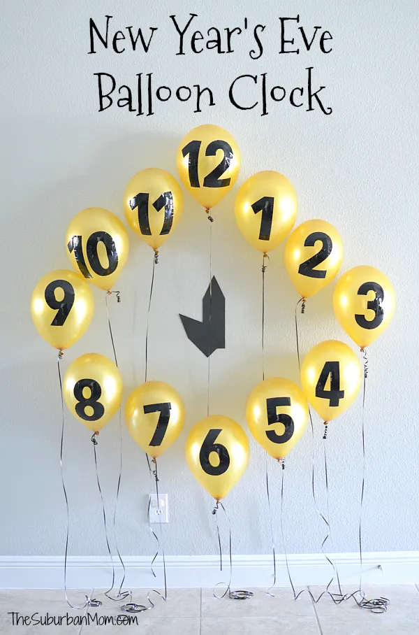 New Year's Eve Balloon Clock Countdown Decoration Kids
