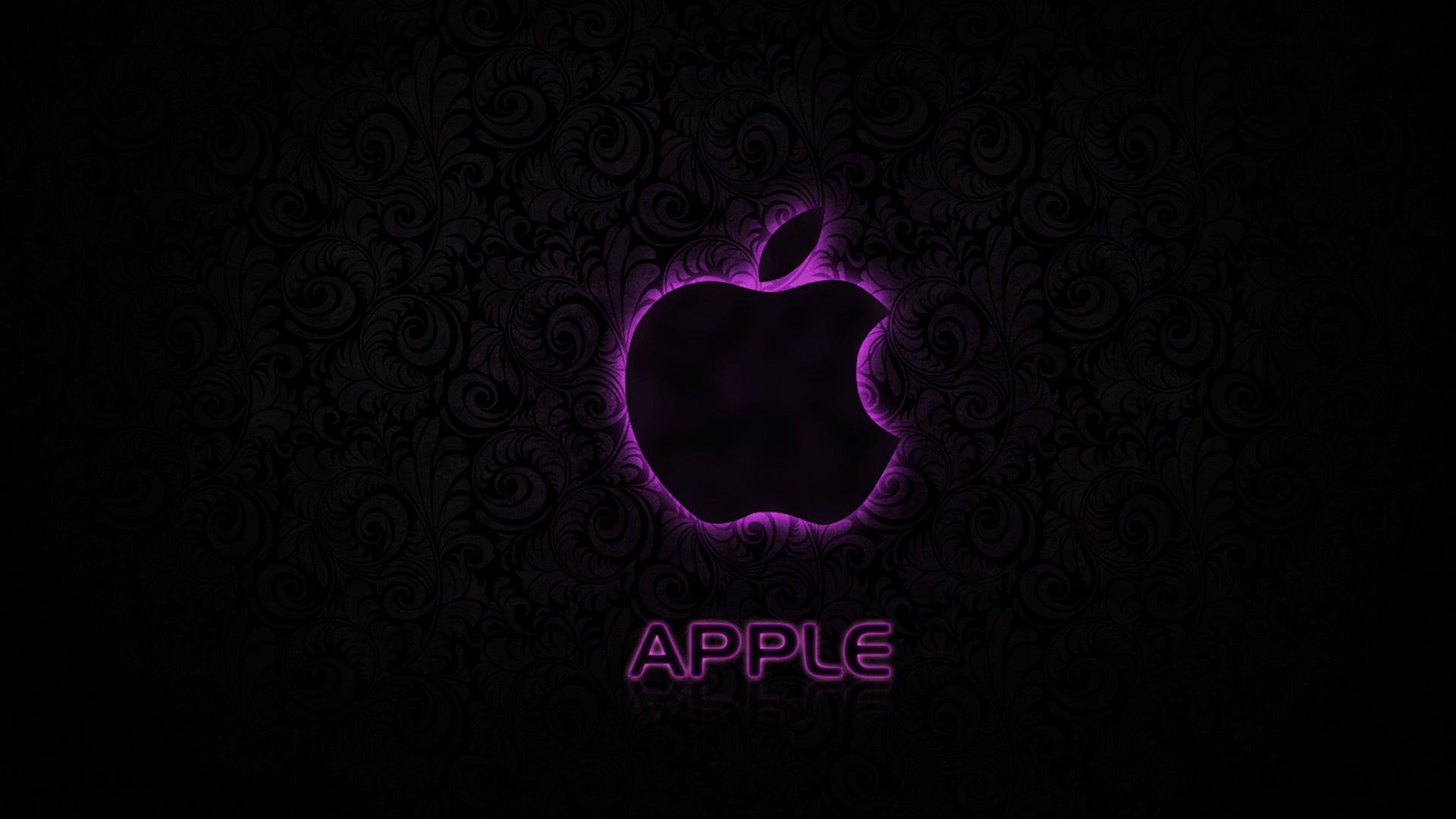 purple Apple logo apple logo texture pink hitech