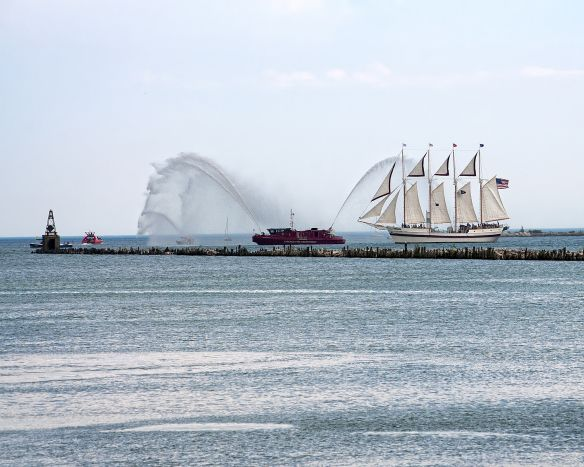 Tall Ship Windy and Chicago Fireboat