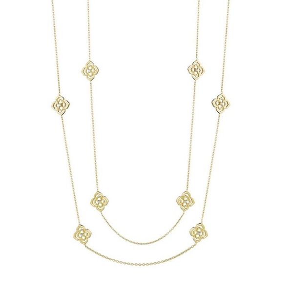 2b83a4ec1c7e49 PENNY PREVILLE Flower Echo Diamond Necklace 18K yellow gold Flower Echo  diamond double sided necklace featuring 16 round brilliant cut diamonds  weighing .40 ...