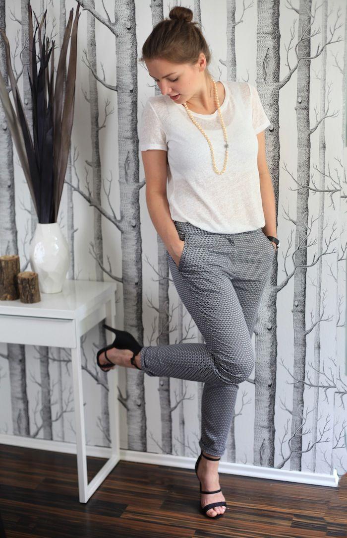 tenue de travail blanc et gris pr sentation professionelle looks pros mode tenue et vetements. Black Bedroom Furniture Sets. Home Design Ideas