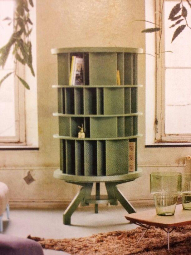 Rotating bookshelf | cool furniture in 2019 | Diy furniture, Craft