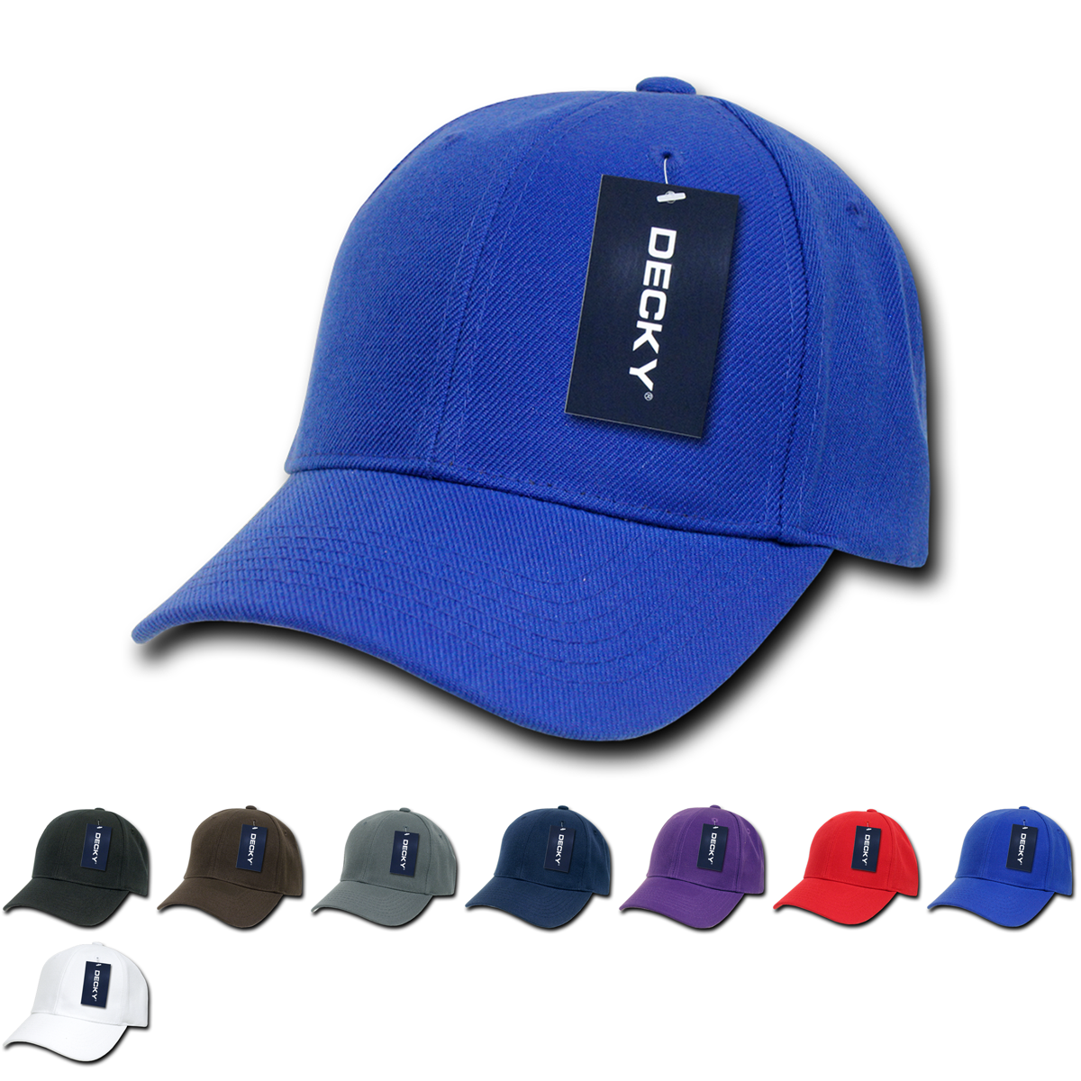 DECKY 6 Panel Curve Bill Baseball Trucker Constructed Caps Cap Hats Unisex