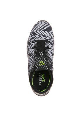 Nike Performance FREE 5.0 TR FIT 5 - Trainings- / Fitnessschuh - black/metallic silver/white/volt - Zalando.de