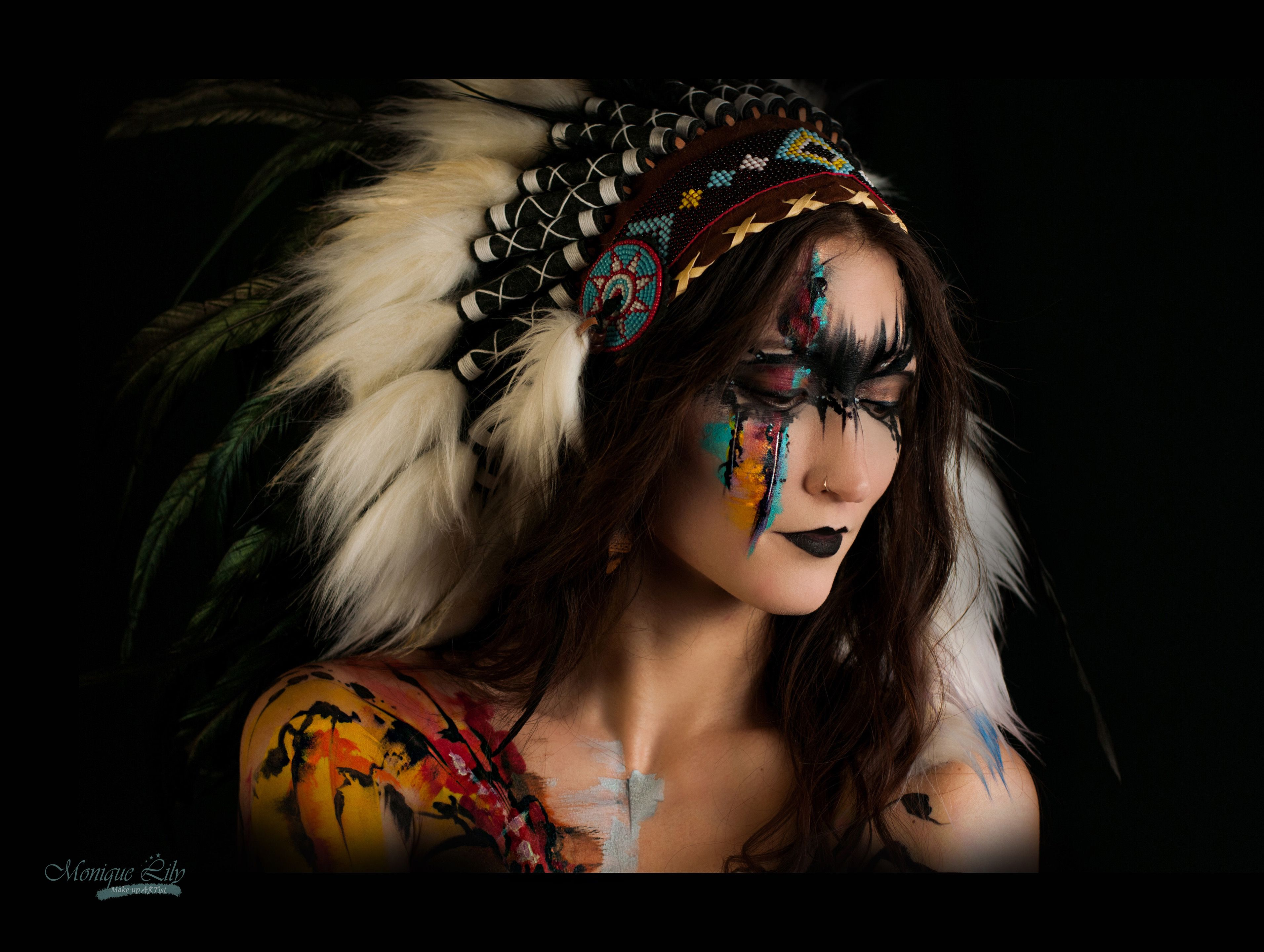 Native American Abstract Body Art Makeup My Many Trips To The Beautiful State New Mexico Inspired Me Model Makeup Halloween Face Makeup Body Painting