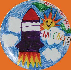 Custom made melamine plastic plates for kids art fundraising  sc 1 st  Pinterest & kids art platter   Custom made melamine plastic plates kids art ...