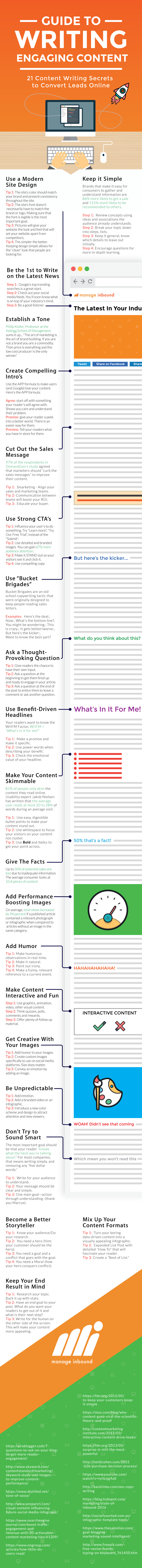 Guide to Writing Engaging Content #infographic