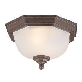 Acclaim Lighting 11.5-In W Burled Walnut Outdoor Flush-Mount Light 560