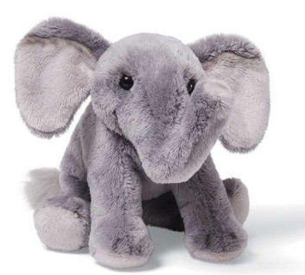 Gund 4028927 Elephant Beanbag Small With Organza Pull String Bag