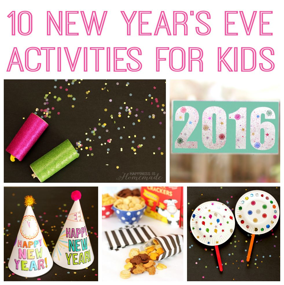 10+ awesome New Year's Eve crafts and activities for kids