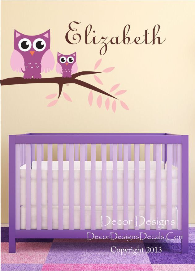 Owl Branch Wall Decals By Decor Designs Decals Name Wall Decals - Custom vinyl wall decals nursery