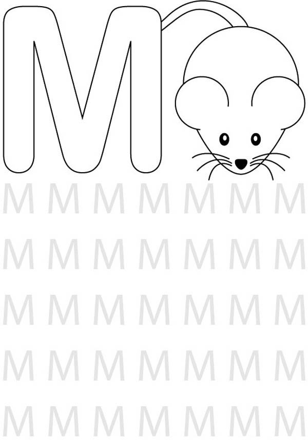 Find Letter M For Mouse Coloring Page Best Place To Color Alphabet Coloring Pages Preschool Coloring Pages Alphabet Preschool