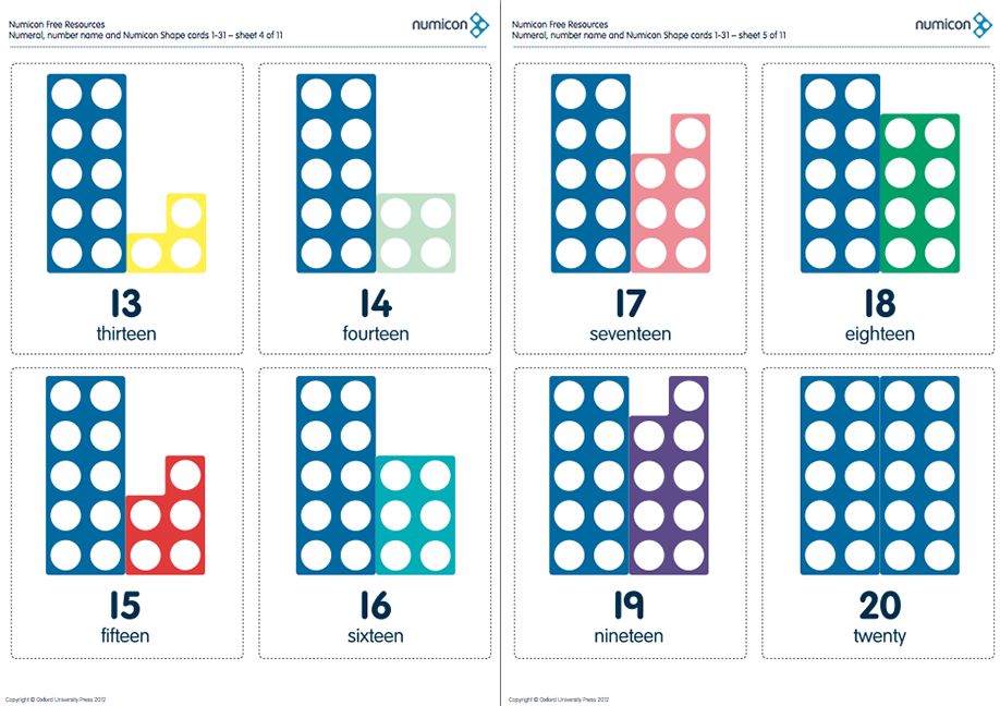 Numicon Cards For Numbers 1-31! | Math activities | Pinterest ...