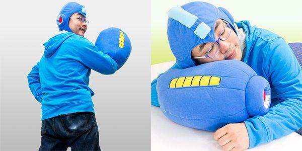 Mega Man Arm Blaster Pillow (Plus Bonus Helmet)