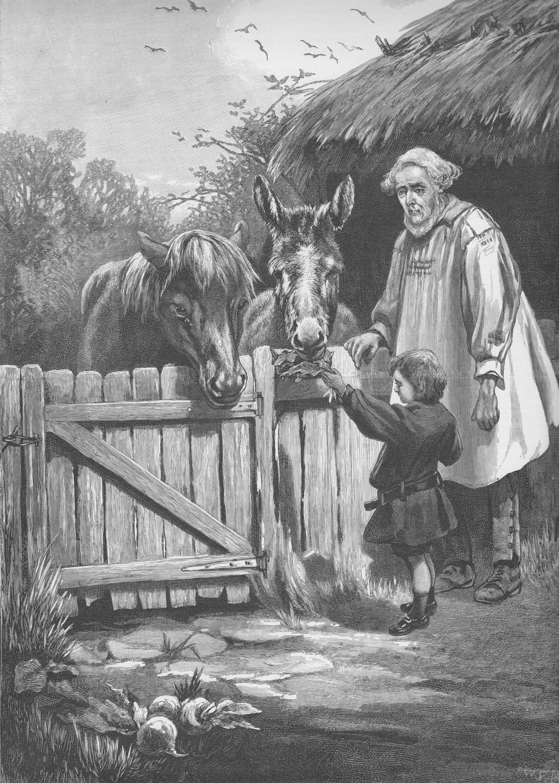 Victorian Boy Feeding Horse Donkey Antique Engraving Art Etsy Antique Art Prints Art Engraving Art