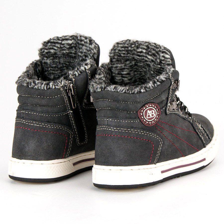 Kozaki Dla Dzieci Arrigobello Arrigo Bello Czarne Cieple Buty Zimowe Wedge Sneaker High Top Sneakers Sneakers