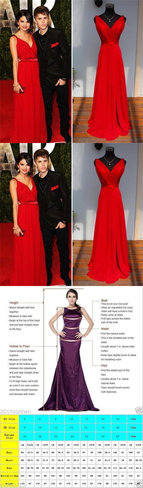 Celebrity dresses new v neck long formal evening dress red new