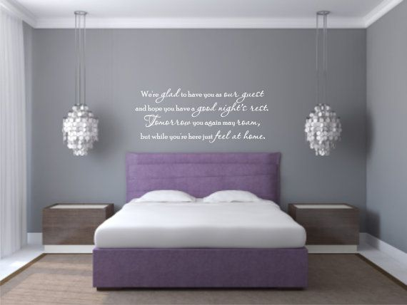 coolest quote for a guest room! | in my home :) | wall, wall decals