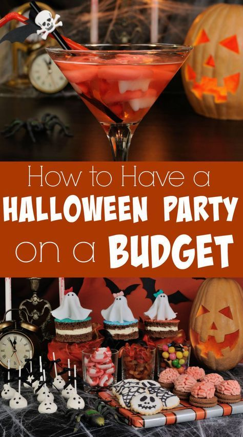 Halloween Party on a Budget Halloween party Pinterest