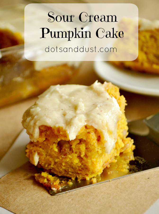 Check out this yummy pumpkin cake with browned butter frosting!
