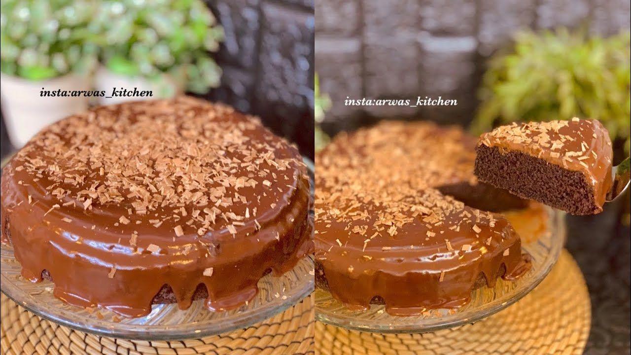 كيكة الشوكولاتة الاسفنجية بصوص الشوكولاتة ببيضتين فقط ومن دون خلاط Food Desserts Pudding
