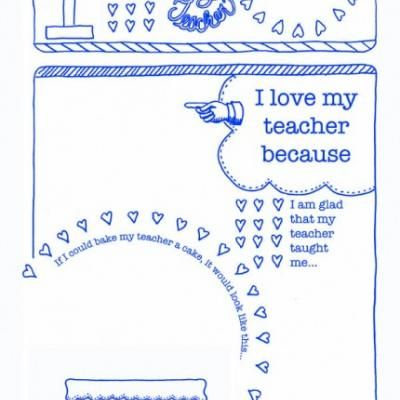 Teacher Thank You {Free Printables} - same exact ones you have to pay for on Scrib