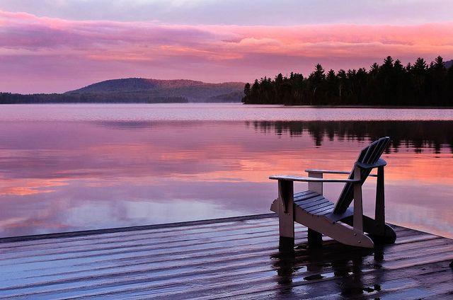 Sunrise at Blue Mountain Lake   Camping spots, Blue mountain ...