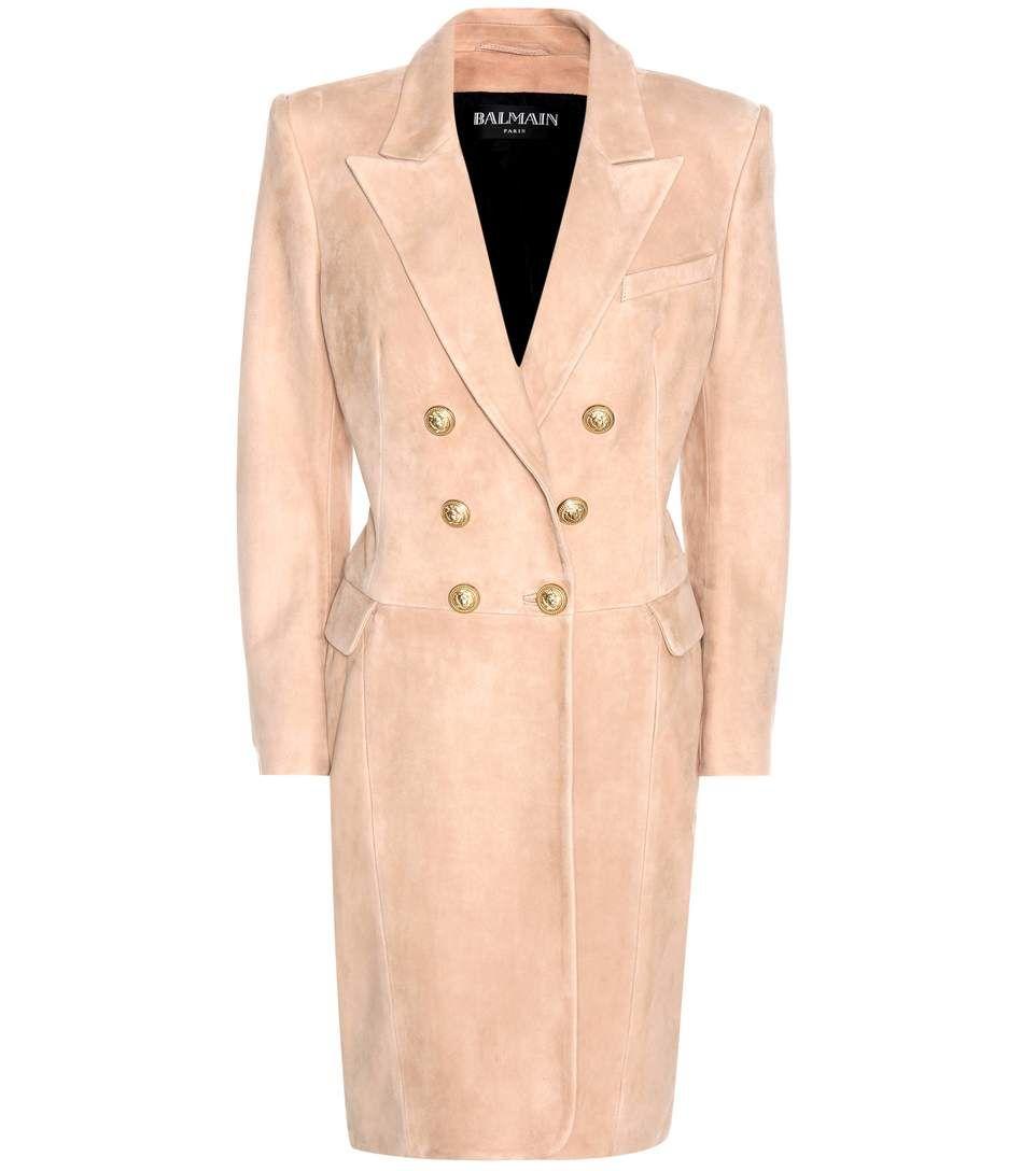 BALMAIN Suede coat. #balmain #cloth #coat