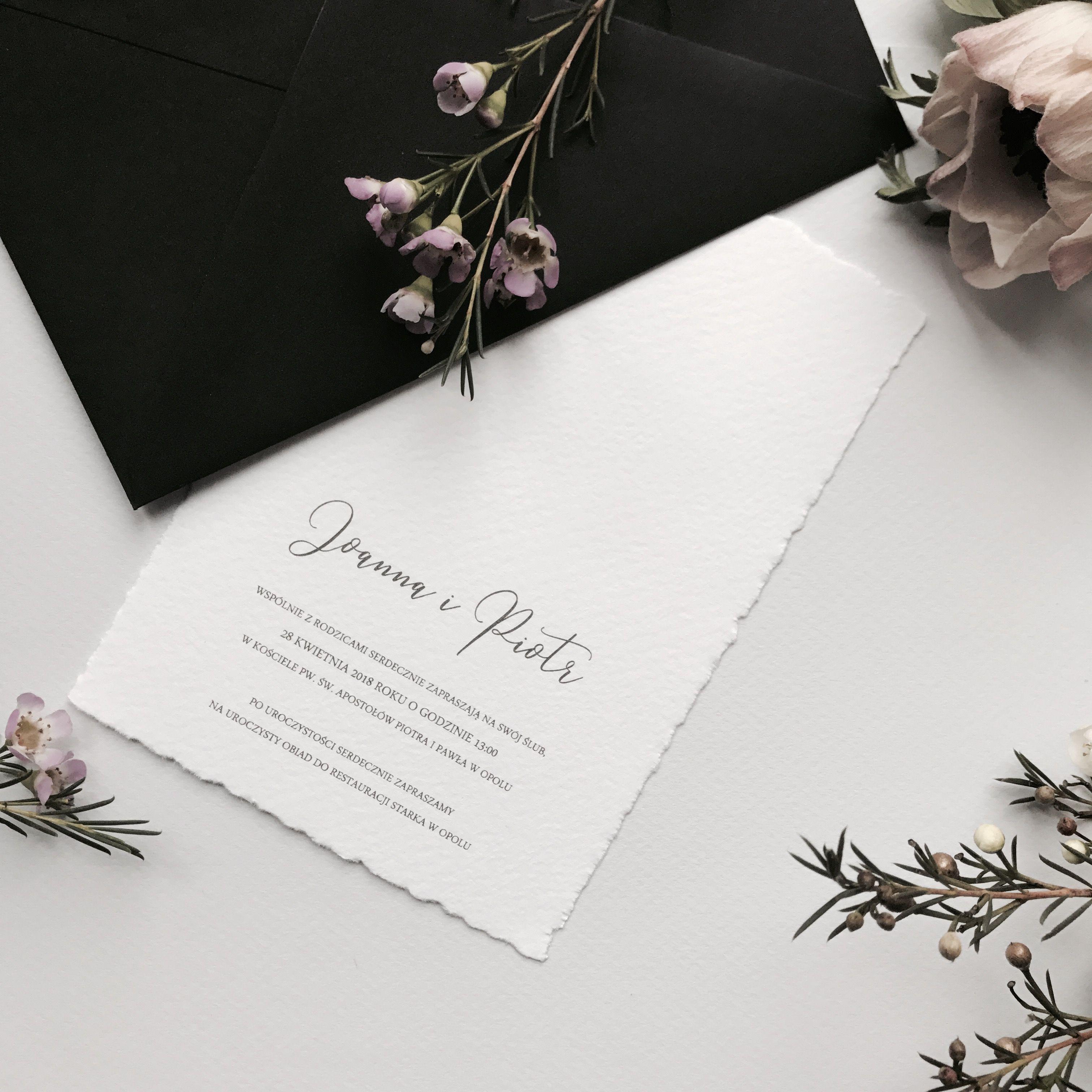 Delikatne I Minimalistyczne Zaproszenie Na ślub Zaproszenia ślubne