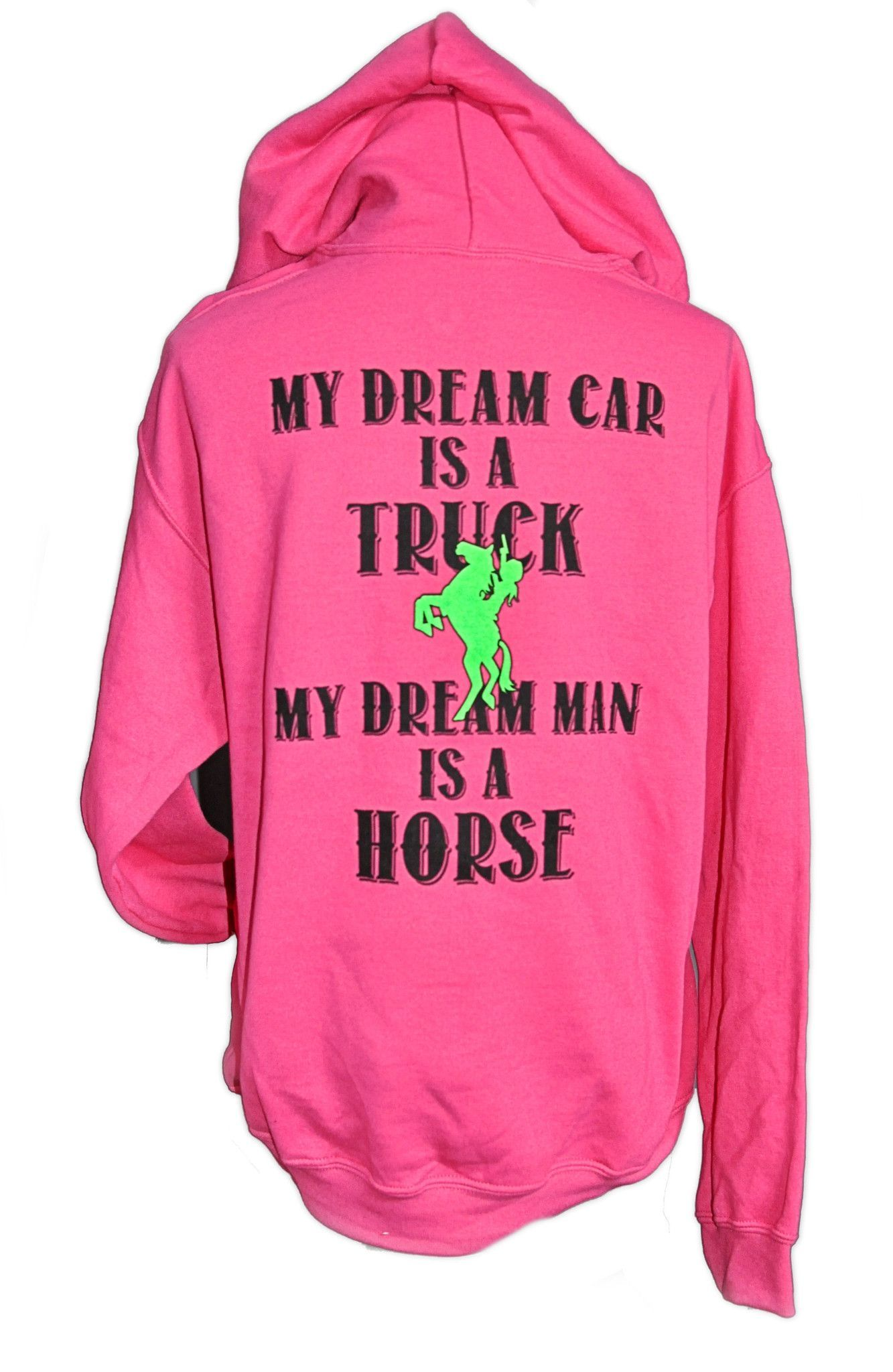 6ed2e6095e704 Dream Man Horse Hoodie is here for you - if you're like me and your dream  man is your best horse. :) Featuring