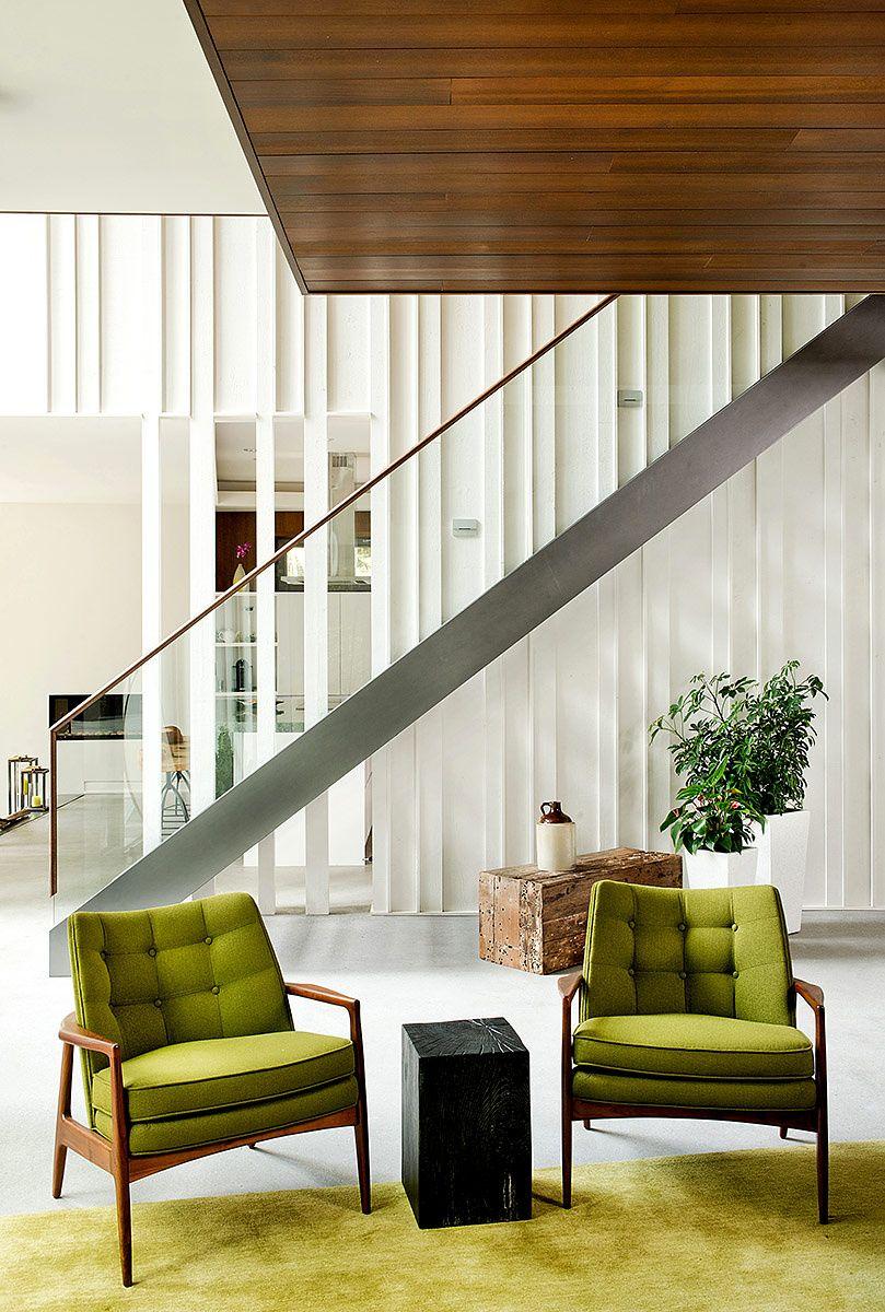 En el nivel inferior se ubica la sala de estar, comedor y cocina. | Galería de fotos 6 de 19 | AD MX